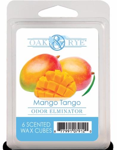 Oak & Rye Mango Tango Odor Eliminator Wax Cubes - 6 pk - Orange Perspective: front