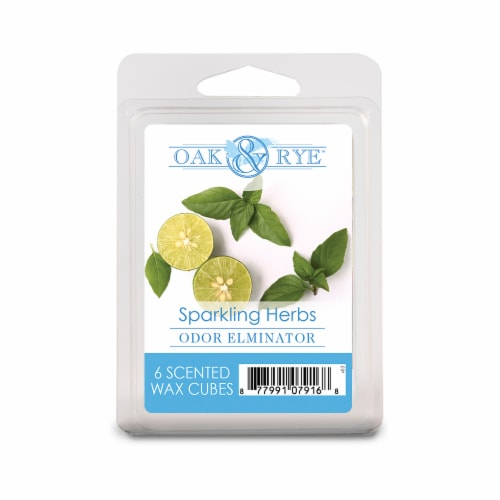 Oak & Rye Sparkling Herbs Scented Wax Cubes 6 Pack Perspective: front