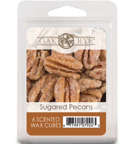 Oak & Rye Sugared Pecans Scented Wax Cubes - 6 Pack Perspective: front
