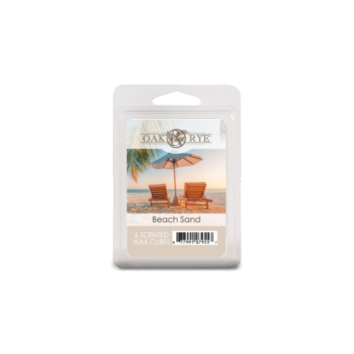 Oak & Rye Beach Sand Scented Wax Cubes Perspective: front
