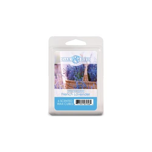 Oak & Rye French Lavender Scented Wax Cubes Perspective: front
