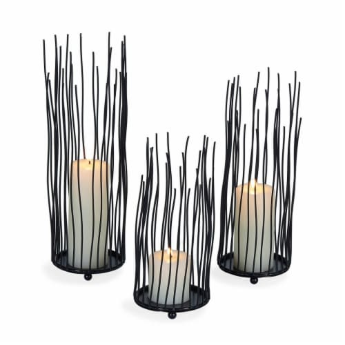 Willow Iron Candleholder 3-Piece Set Perspective: front
