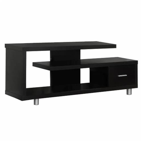 Cappuccino Hollow-Core 60 L Tv Console Perspective: front