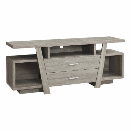 Monarch 60  TV Stand in Dark Taupe Perspective: front