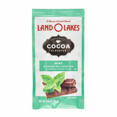 Land O' Lakes Cocoa Classics Mint Hot Chocolate Mix Perspective: front