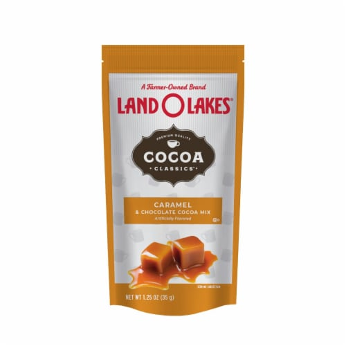 Land O Lakes Cocoa Classics Caramel and Chocolate Hot Cocoa Mix: 1.25 oz- 12 pack Perspective: front