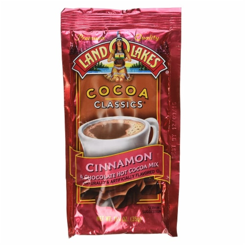 Land O Lakes Cocoa Classics Cinnamon and Chocolate Hot Cocoa Mix, 1.25 Ounce -- 12 per case Perspective: front