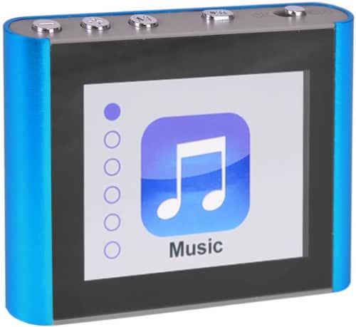 Fit Clip Plus Blue 8gb 1.8 Mp3 + Video Player Perspective: front