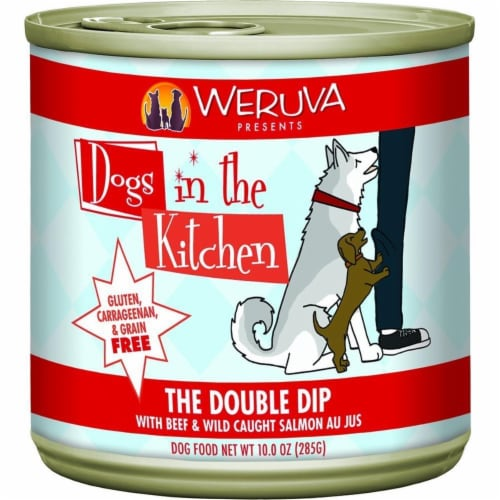 PF 98200490 10 oz Dogs in the Kitchen The Double Dip Beef with Wild Caught Salmon Pet Food - Perspective: front