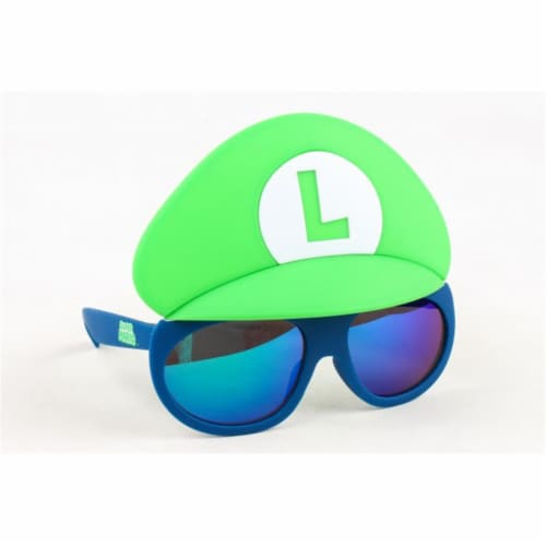Sunstaches  Luigi Kids Lil, Blue & Green Perspective: front