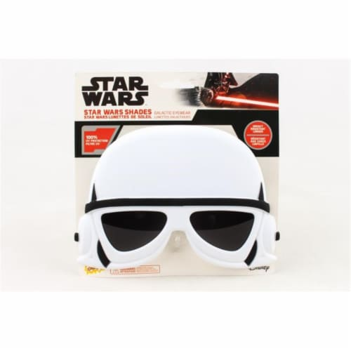 Sunstaches Star Wars Storm Trooper, Black & White Perspective: front