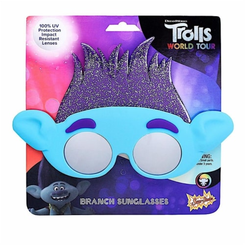Sunstaches SG3737 Trolls World Tour Branch Toy Perspective: front