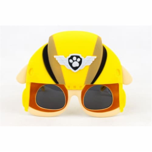 Sunstaches Large Rubble Paw Patrol, Yellow Perspective: front