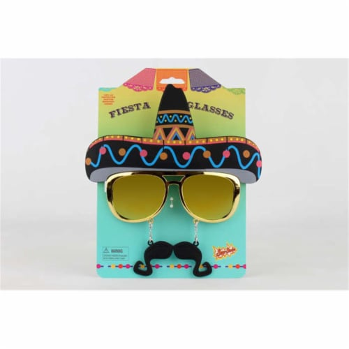 Sunstaches SG3030 Party Costumes Fiesta Glasses Perspective: front