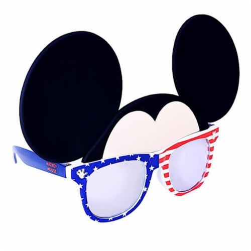 Sunstaches SG3084 Red, White & Blue Mickey Cosplay Perspective: front