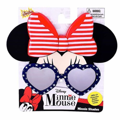 Sunstaches SG3085 Minnie Cosplay, Red, White & Blue Perspective: front