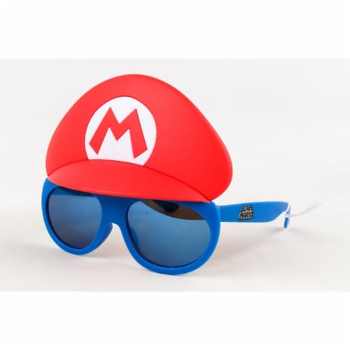 Sunstaches Lil Characters Super Mario, Red & Blue Perspective: front