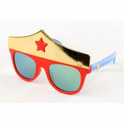 Sunstaches Lil Wonder Woman Crown, Red & Yellow Perspective: front