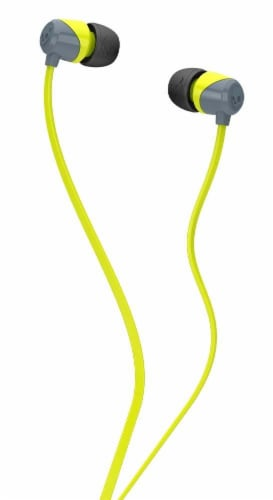 Skullcandy Jib In-ear Headphones - Lime/Gray Perspective: front
