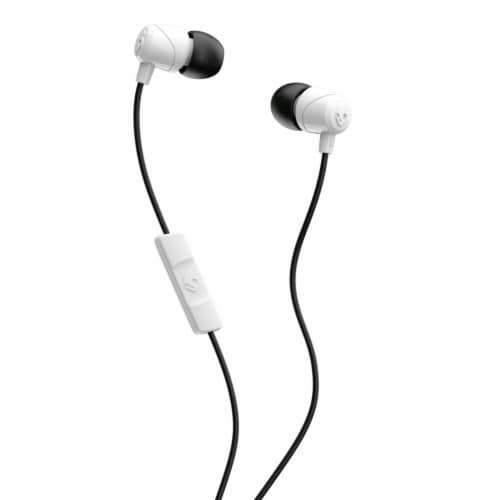 Skullcandy Jib Earbuds with Microphone - Black/White Perspective: front