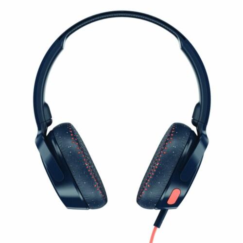 Skullcandy Riff Wired Headphones - Blue/Orange Perspective: front