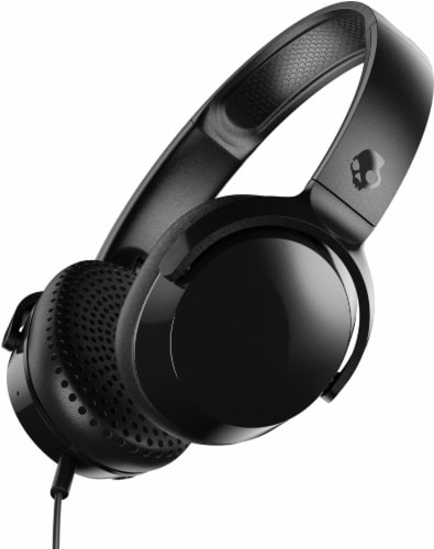 Skullcandy Riff Wired Headphones - Black Perspective: front