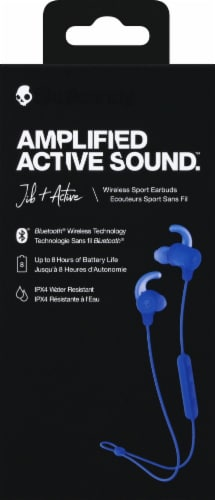 Skullcandy Jib + Active Amlified Active Sound Wireless Sport Earbuds - Blue Perspective: front