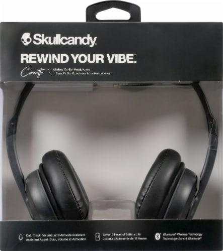Skullcandy Cassette Wireless Bluetooth Headphones - Black Perspective: front