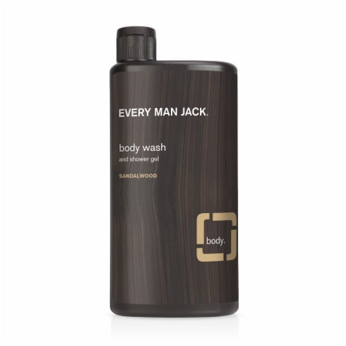 Every Man Jack Sandalwood Body Wash and Shower Gel Perspective: front