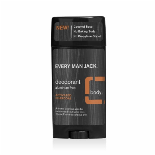 Every Man Jack Activated Charcoal Deodorant Perspective: front