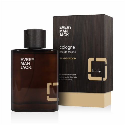 Every Man Jack Sandalwood Cologne Perspective: front