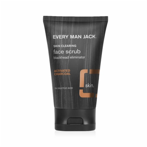 Every Man Jack Charcoal Face Scrub Perspective: front