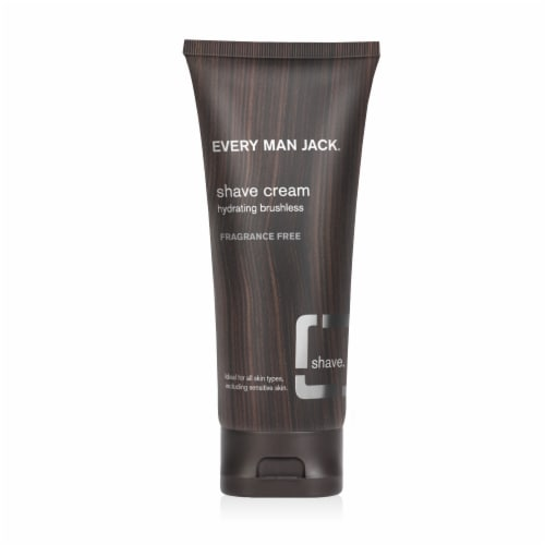 Every Man Jack Fragrance Free Shave Cream Perspective: front