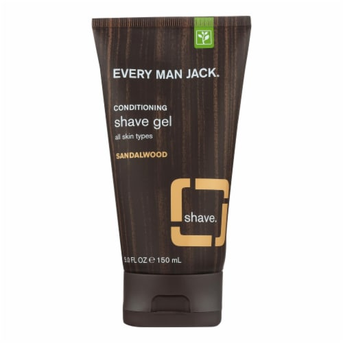 Every Man Jack Sandalwood Shave Gel Perspective: front