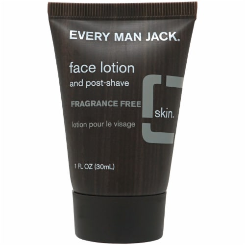 Every Man Jack Fragrance Free Face Lotion and Post-Shave Perspective: front