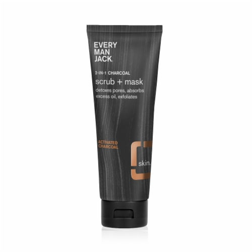 Every Man Jack Activated Charcoal Face Mask & Scrub Perspective: front
