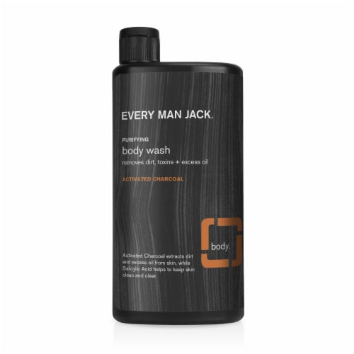Every Man Jack Charcoal Body Wash Perspective: front