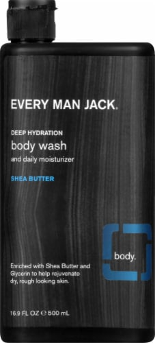 Every Man Jack Deep Hydration Shea Butter Body Wash Perspective: front