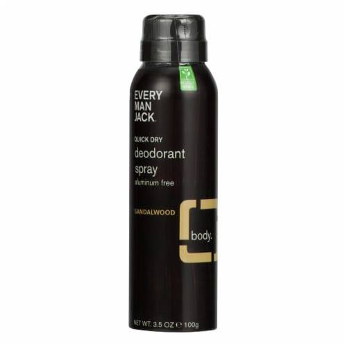 Every Man Jack - Deodorant Qk Dry Sandlwd Spray - 1 Each - 3.5 OZ - Pack of 3 Perspective: front