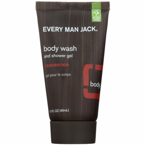 Every Man Jack Cedarwood Body Wash & Shower Gel Perspective: front