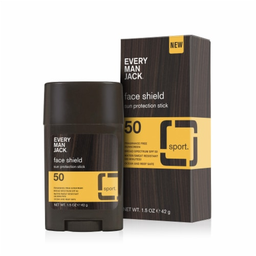Every Man Jack Face Shield Sun Protection Stick SPF 50 Perspective: front