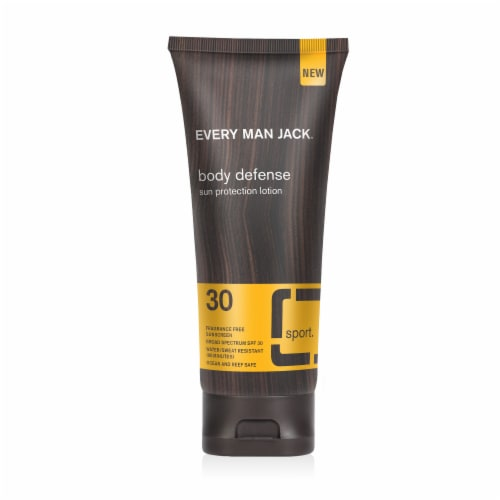 Every Man Jack Body Defense Sun Protection Lotion SPF 30 Perspective: front