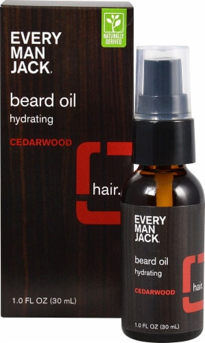 Every Man Jack Cedarwood Hydrating Beard Oil Perspective: front
