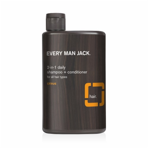 Every Man Jack 2-in-1 Daily Citrus Shampoo & Conditioner Perspective: front