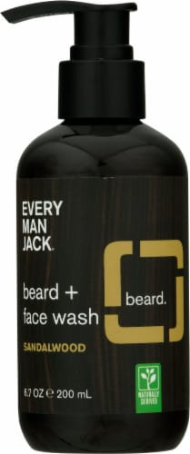 Every Man Jack Sandalwood Beard + Face Wash Perspective: front