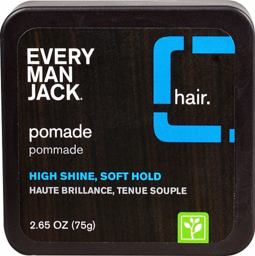 Every Man Jack  Pomade High Shine Soft Hold Perspective: front