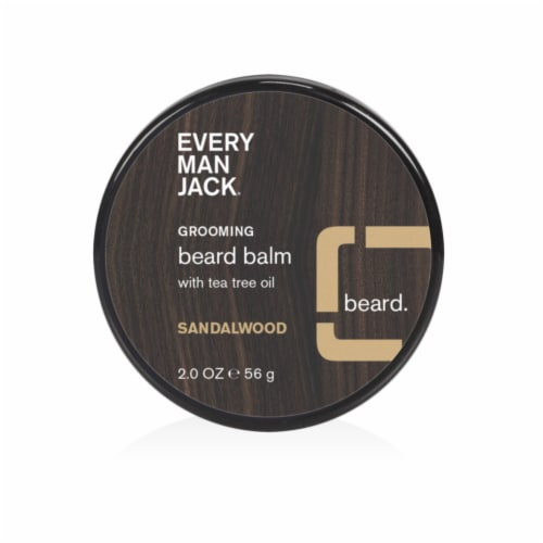 Every Man Jack Sandalwood Beard Balm Perspective: front
