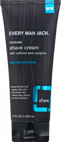 Every Man Jack Natural Menthol Cooling Shave Cream Perspective: front
