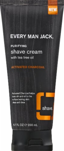 Every Man Jack Activated Charcoal Purifying Shave Cream Perspective: front