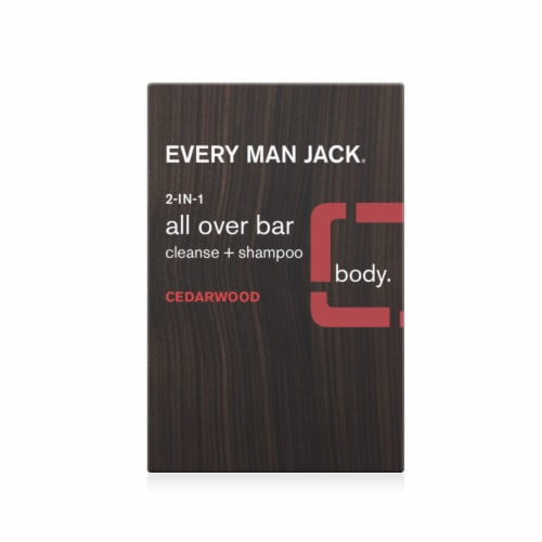 Every Man Jack Cedarwood 2-in-1 All Over Bar Perspective: front